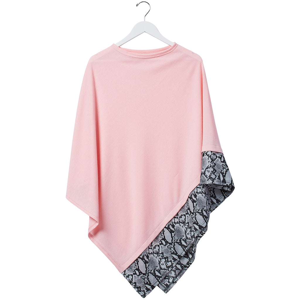 Snake Skin Poncho - Pink - Tickled Pink Wholesale