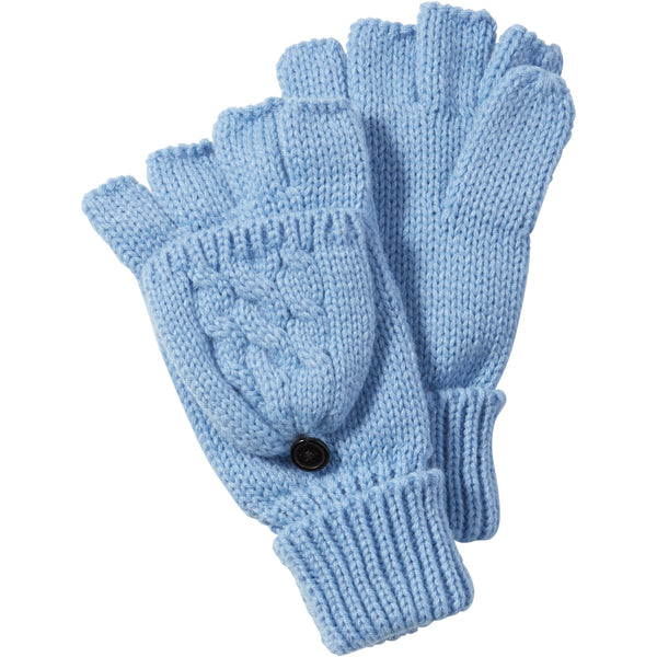 Bluebell Dove Cableknit Mittens