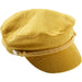 Mustard Corduroy Newsboy Cap - Tickled Pink Wholesale