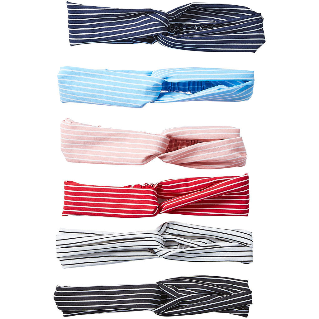 Headband 12 Pack - Pin Stripe - Tickled Pink Wholesale