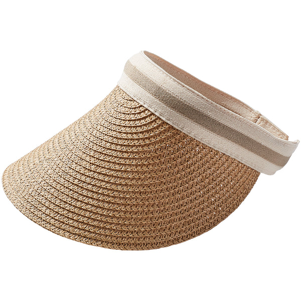 Wholesale Vacay Straw Visor - Tawny