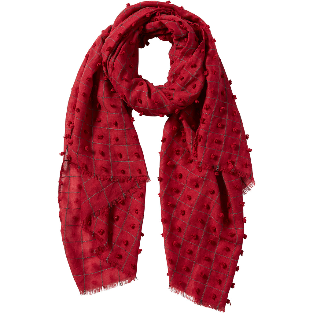 Garnet Knotted Squares Scarf - Tickled Pink Wholesale