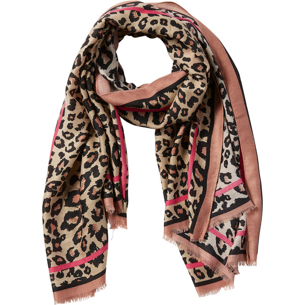 Deb Leopard Scarf - Pink - Tickled Pink Wholesale