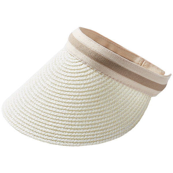 Vacay Straw Visor - Cream - Tickled Pink Wholesale