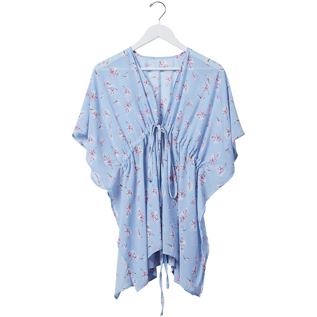 Babydoll Tie Tunic - Bluebell Floral - Tickled Pink Wholesale