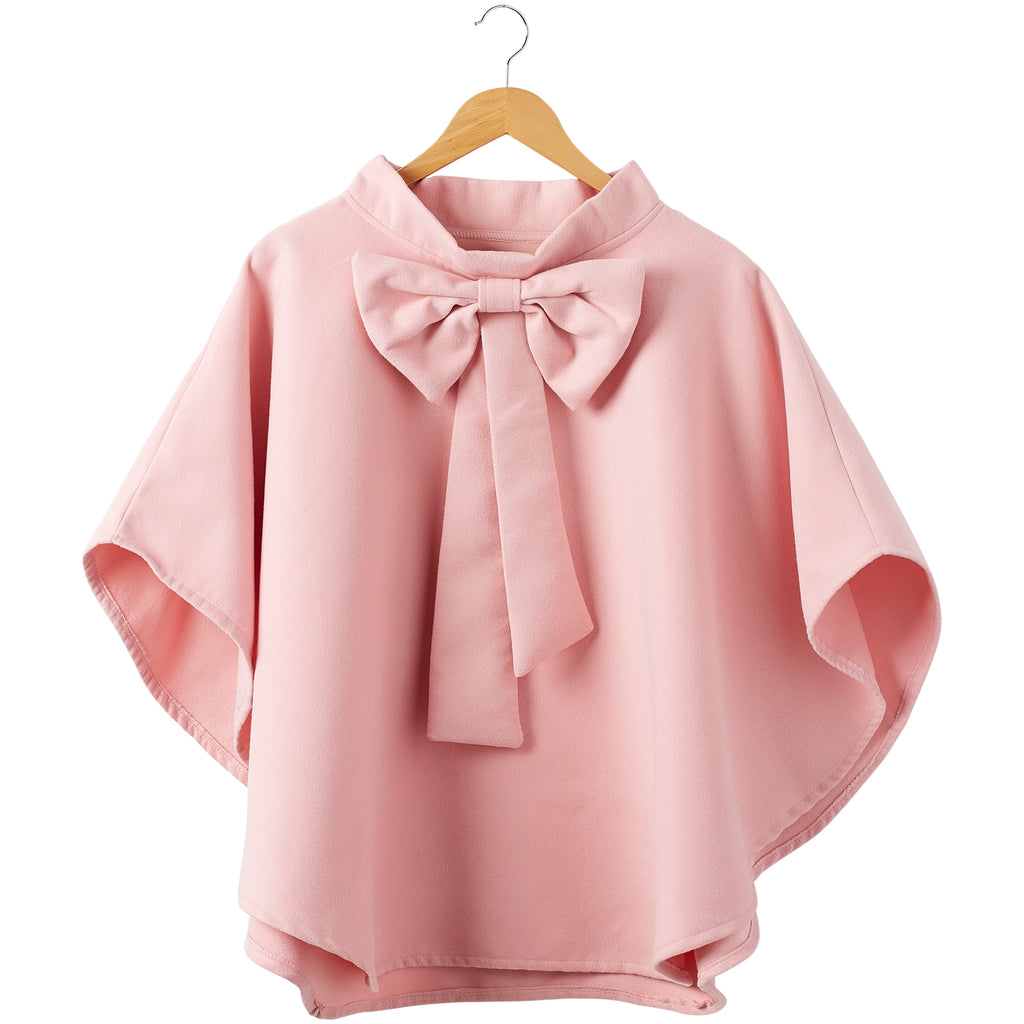 Elsa Bow Cape - Pink - Tickled Pink Wholesale