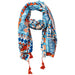 Tribal Pattern Tassel Scarf - Tickled Pink Wholesale
