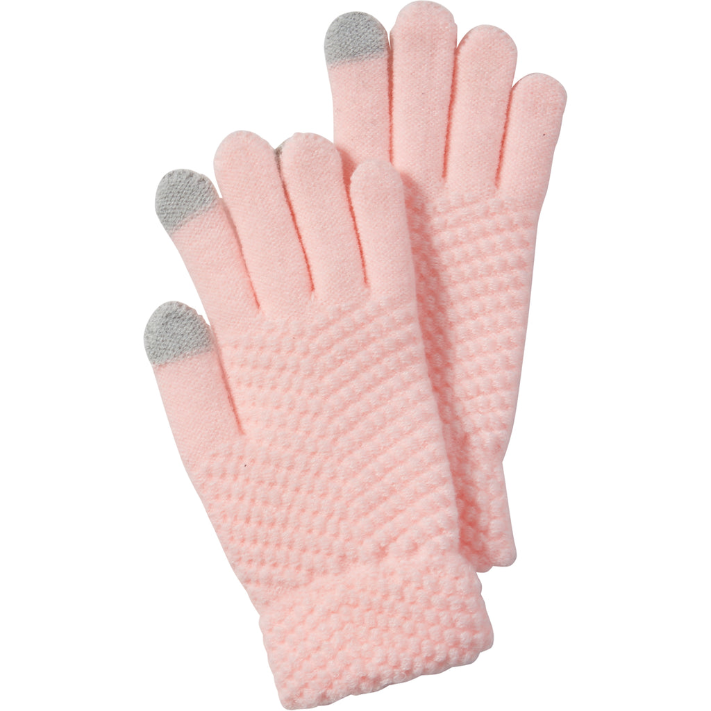 Pink Anna Texting Knit Gloves - Tickled Pink Wholesale