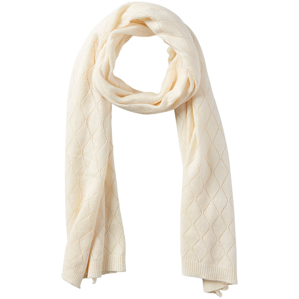 Catherine Diamond Knit Scarf - Cream - Tickled Pink Wholesale