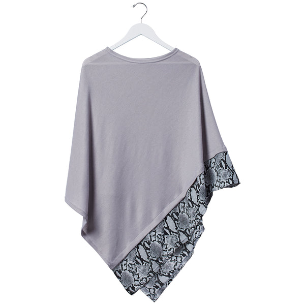 Snake Skin Poncho - Gray - Tickled Pink Wholesale