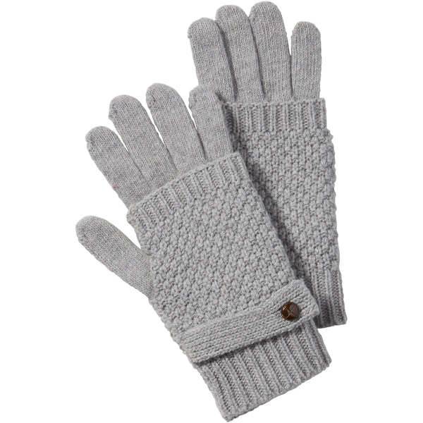Gray Duo Knit Texting Gloves - Tickled Pink Wholesale