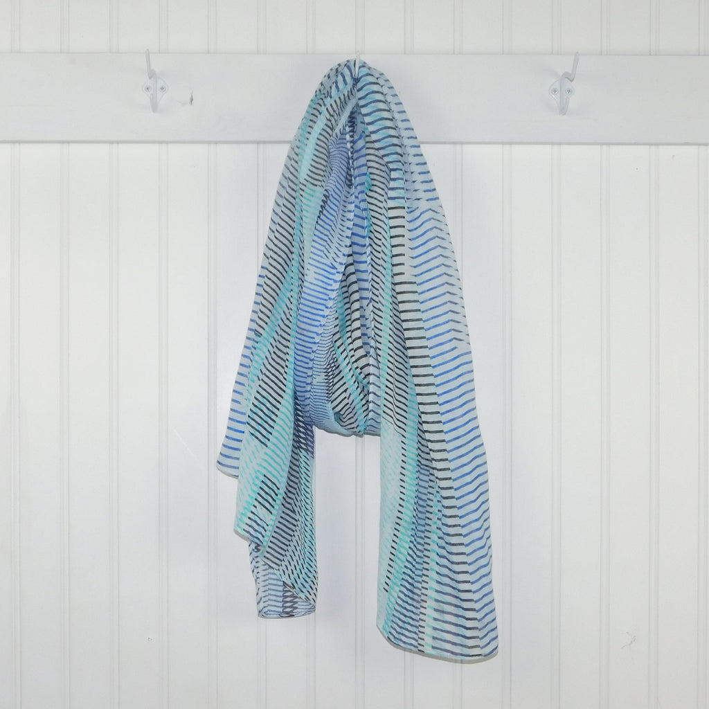 wholesale  Kessie Stripes Scarf - Blue