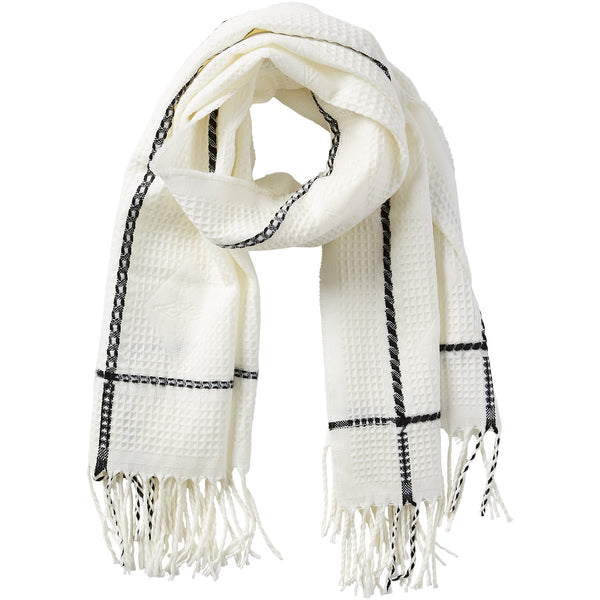 Knox Fringe Scarf - White - Tickled Pink Wholesale