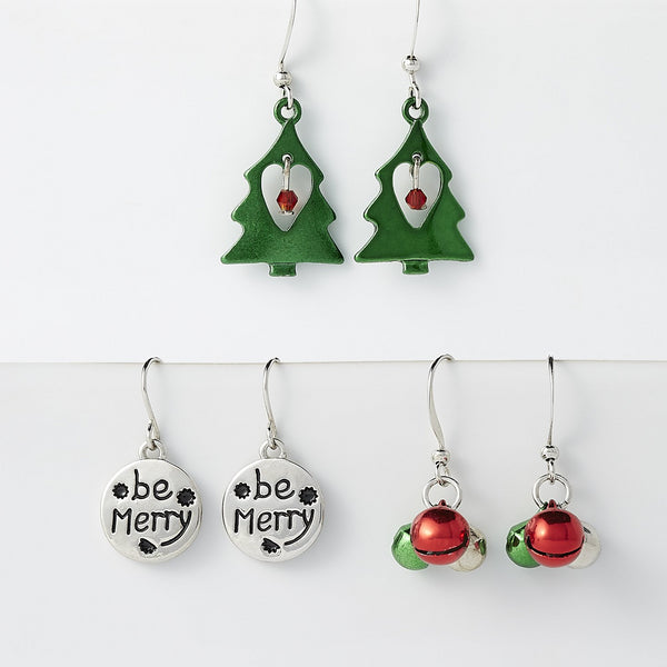 Christmas Earring Set Of 3