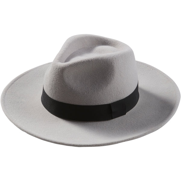 Gray Hilary Wool Panama Hat - Tickled Pink Wholesale