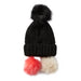 Snap On Pom Pom Beanie - Black - Tickled Pink Wholesale