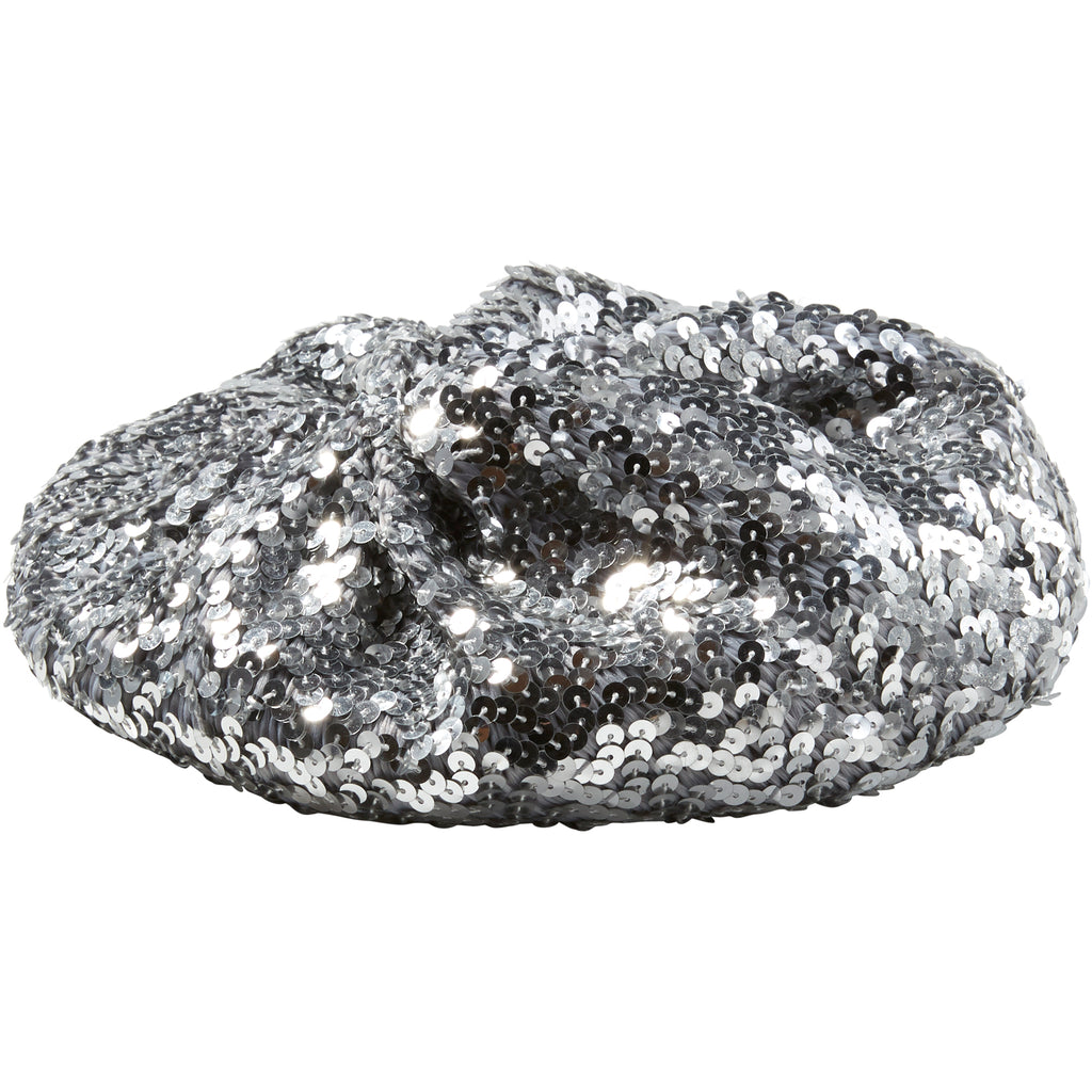 Silver Josephine Sequin Beret - Tickled Pink Wholesale