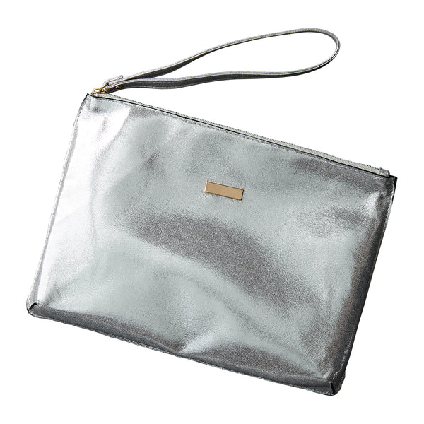 Silver Glam Clutch - Tickled Pink Wholesale
