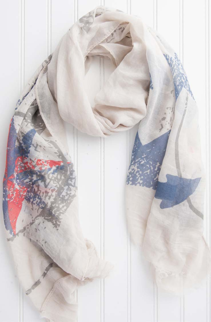 wholesale  Sailor'S Way Anchor Scarf - Sand