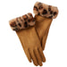 Leopard Fuzzy Gloves - Tawny - Tickled Pink Wholesale