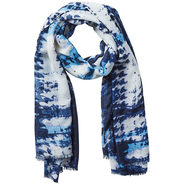 Wholesale Tye Dye Scarf - Navy
