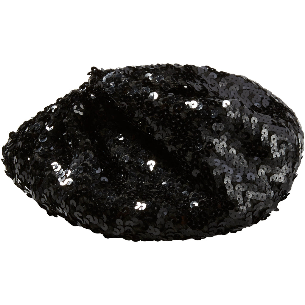 Black Josephine Sequin Beret - Tickled Pink Wholesale