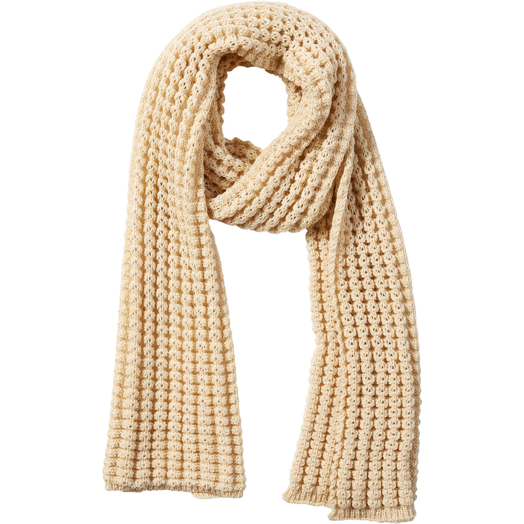 Amanda Chunky Knit Scarf - Beige - Tickled Pink Wholesale