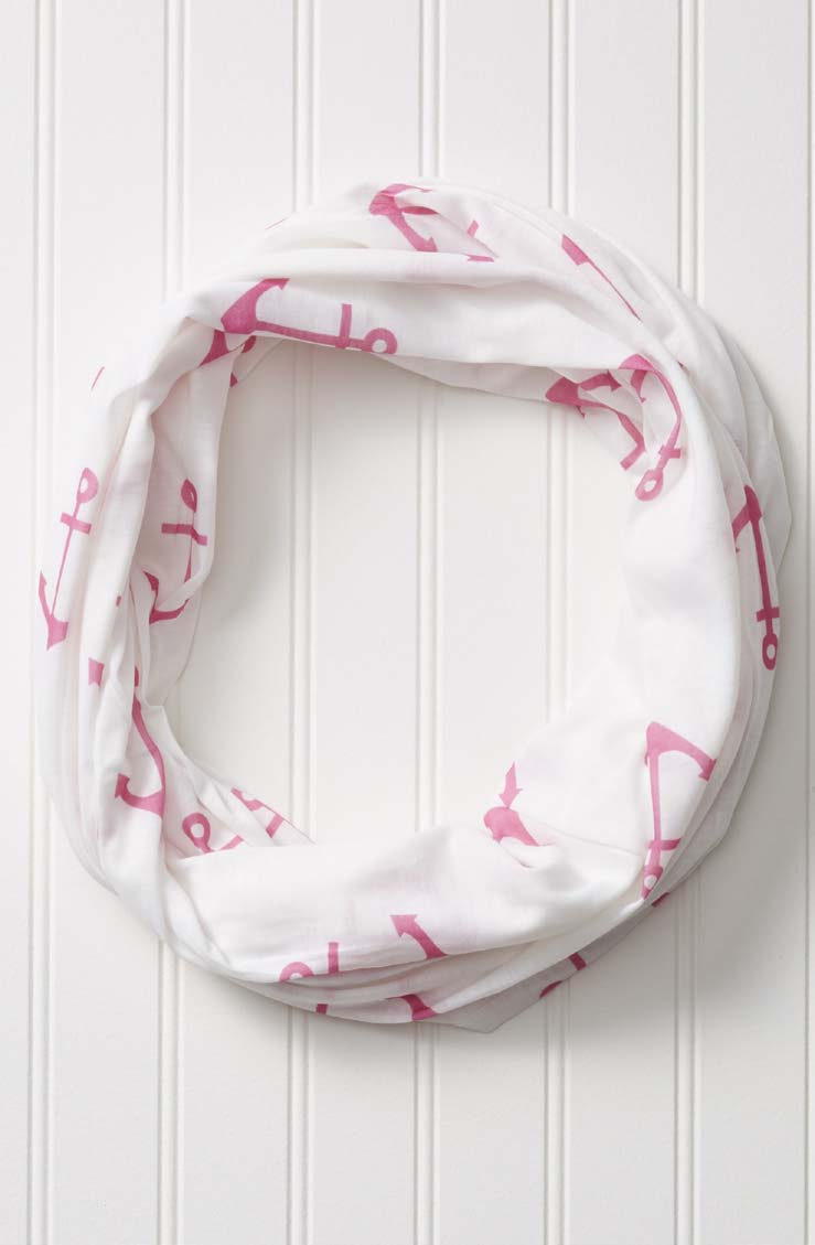 wholesale  Anchors On White Infinity - Pink
