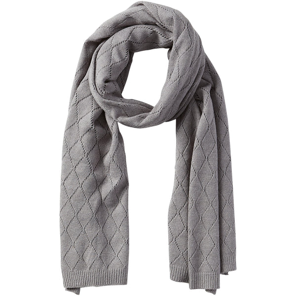 Catherine Diamond Knit Scarf - Gray - Tickled Pink Wholesale
