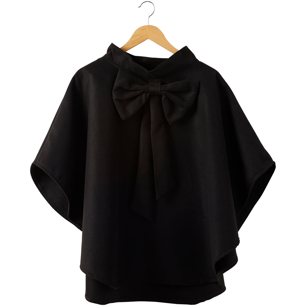 Elsa Bow Cape - Black - Tickled Pink Wholesale