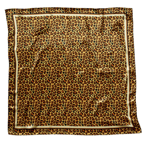 "Leopard Lola Square Scarf Gift Set - 34"" x 34"" - Tickled Pink Wholesale"