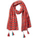 Retro Tassel Scarf - Coral - Tickled Pink Wholesale