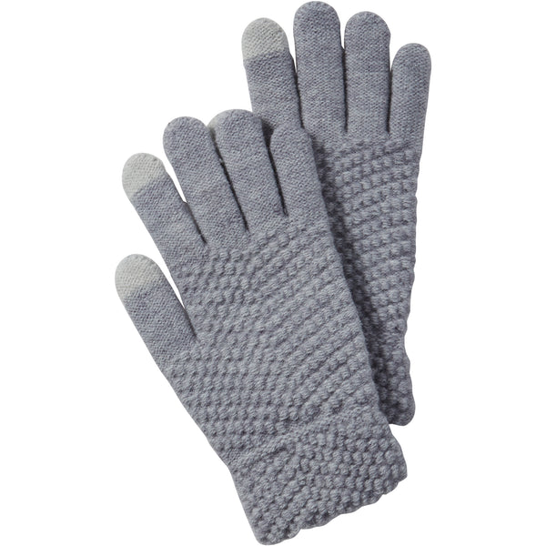 Gray Anna Texting Knit Gloves - Tickled Pink Wholesale