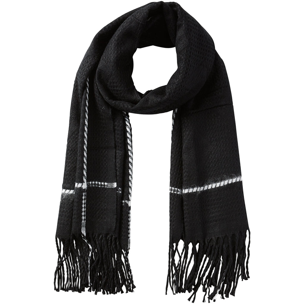 Knox Fringe Scarf - Black - Tickled Pink Wholesale