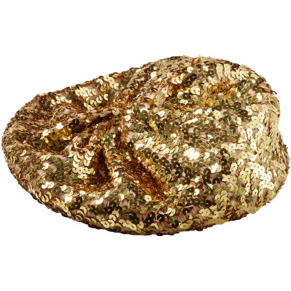 Gold Josephine Sequin Beret - Tickled Pink Wholesale