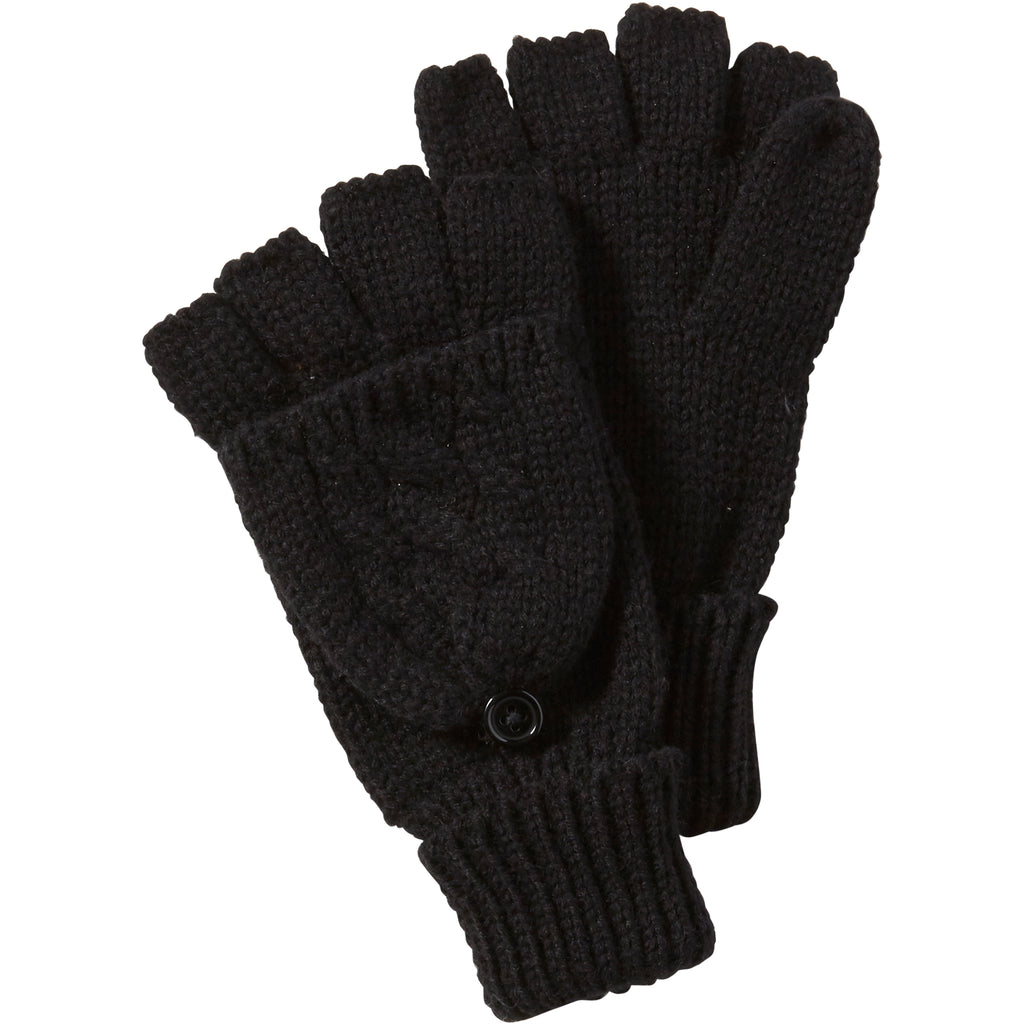 Black Dove Cableknit Mittens - Tickled Pink Wholesale
