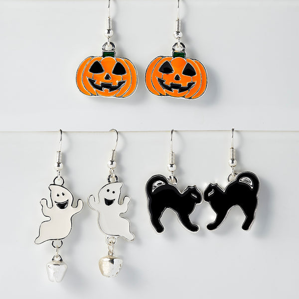 Halloween Earring Set Of 3 - Tickled Pink Wholesale