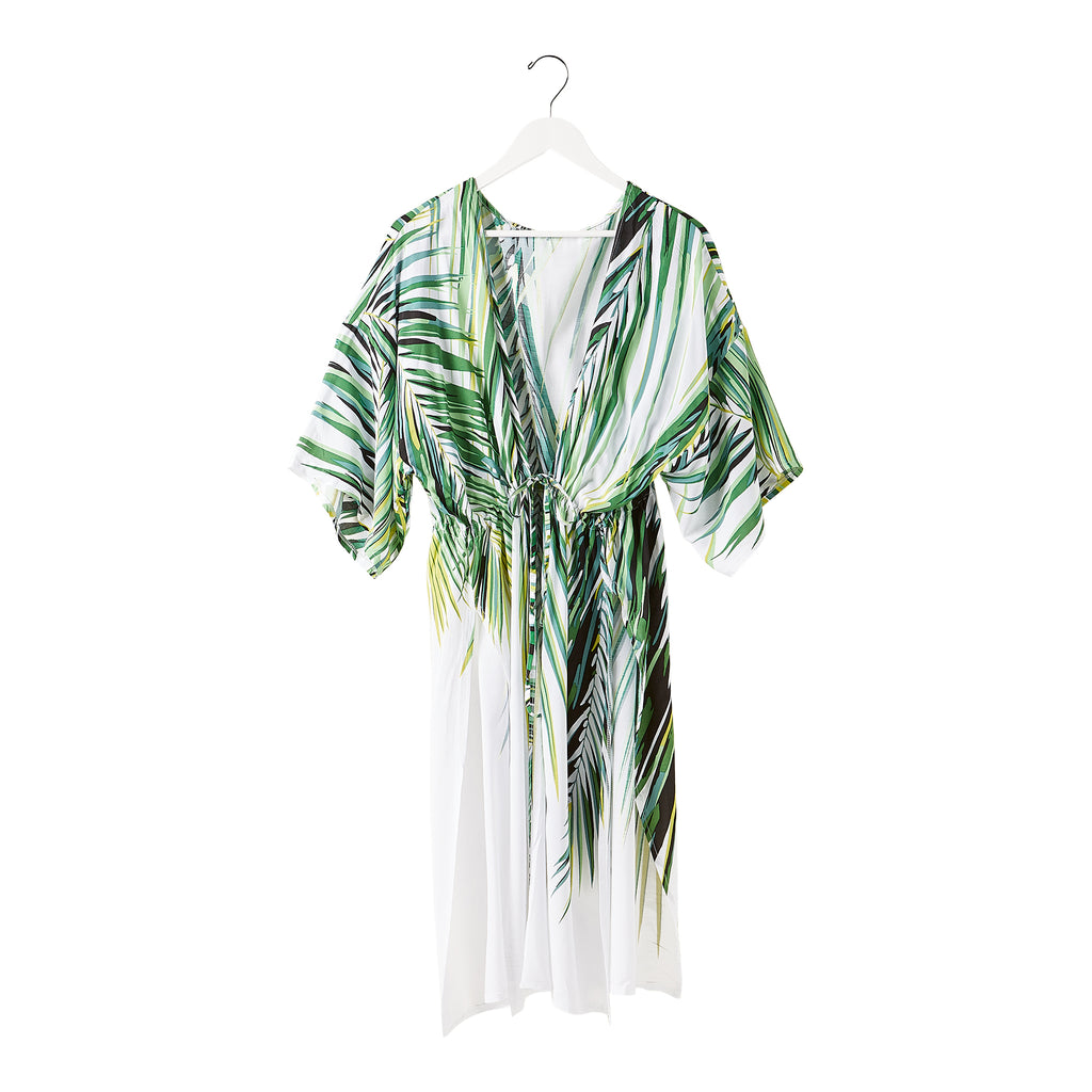 Wholesale Palm Leaf Pool Side Kimono