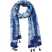 Jacobean Scarf - Indigo - Tickled Pink Wholesale