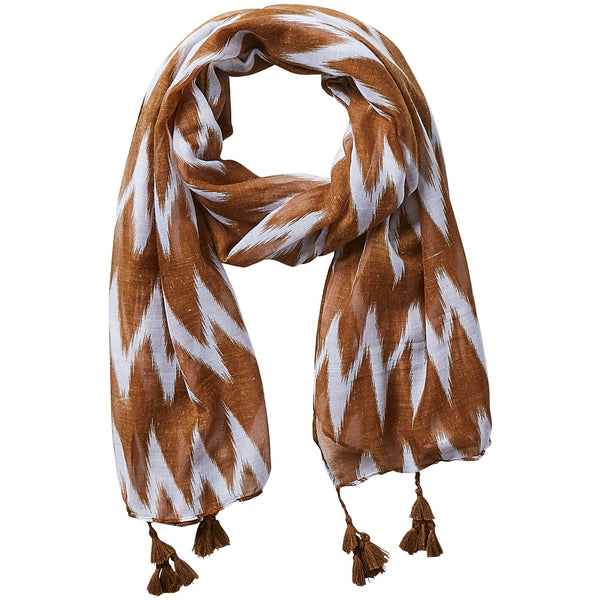 Chevron Scarf - Camel - Tickled Pink Wholesale