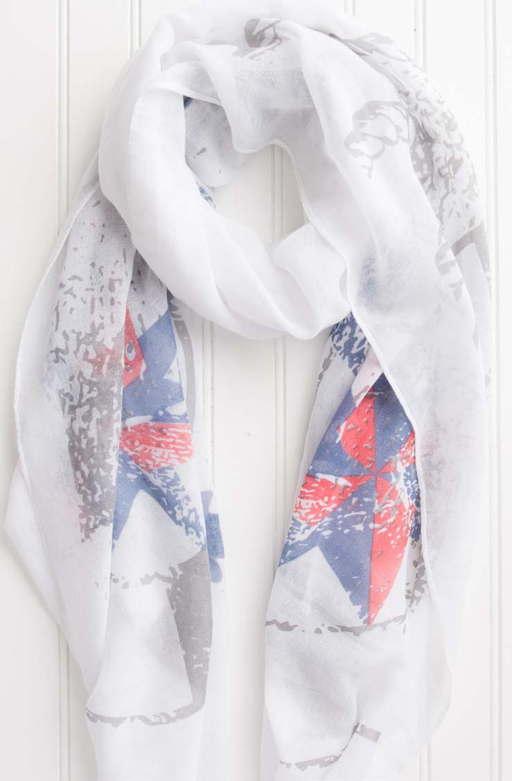 wholesale  Sailor'S Way Anchor Scarf - White
