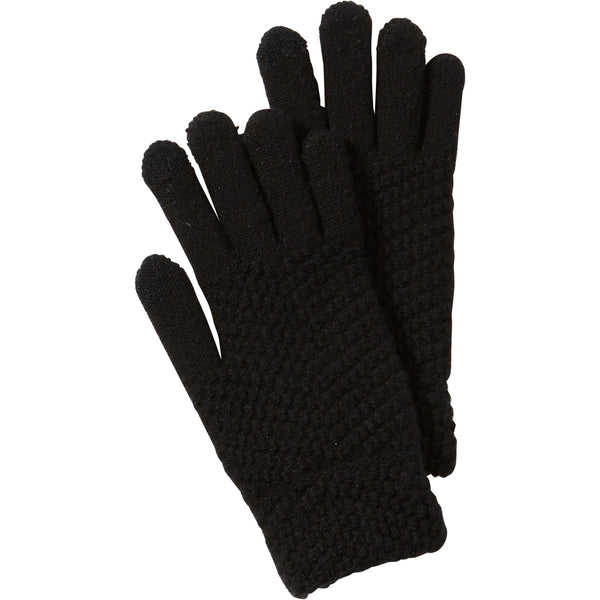 Black Anna Texting Knit Gloves - Tickled Pink Wholesale
