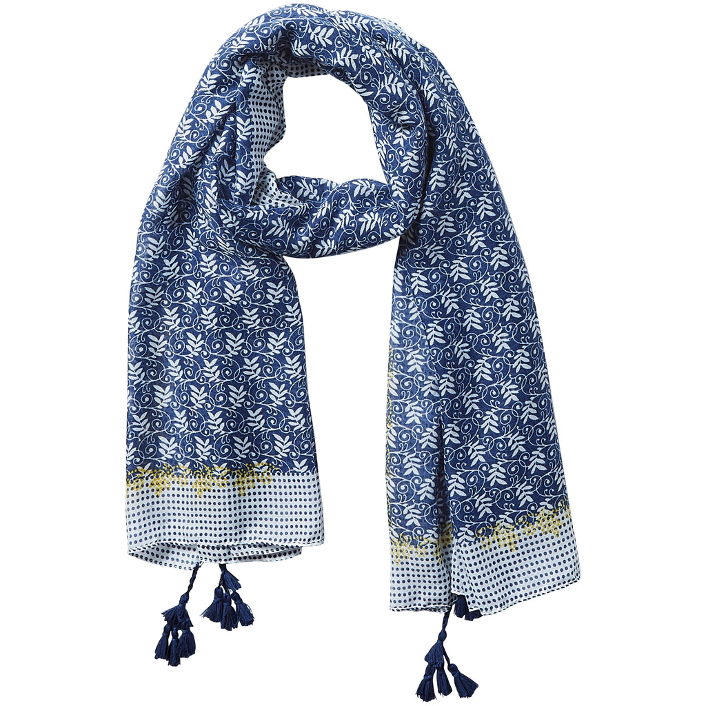 Simple Blue Dots Scarf - Tickled Pink Wholesale