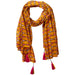 Retro Tassel Scarf - Mustard - Tickled Pink Wholesale