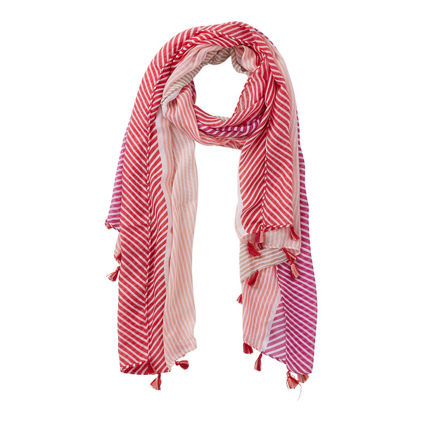 Wholesale Pink & Purple Cali Stripes Scarf