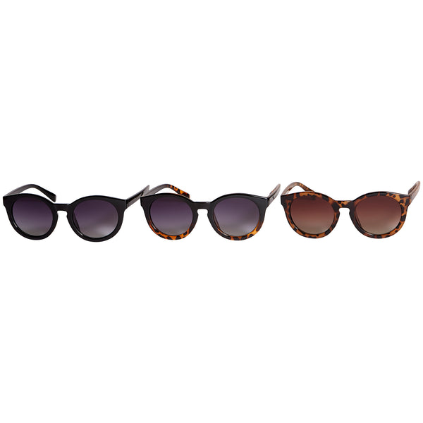 Willow Polarized Round Sunglasses 3 Pack