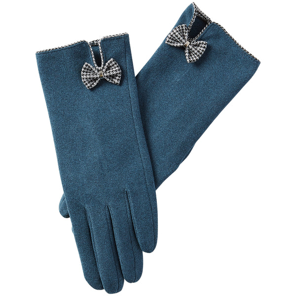 Isla Bow Gloves - Peacock - Tickled Pink Wholesale