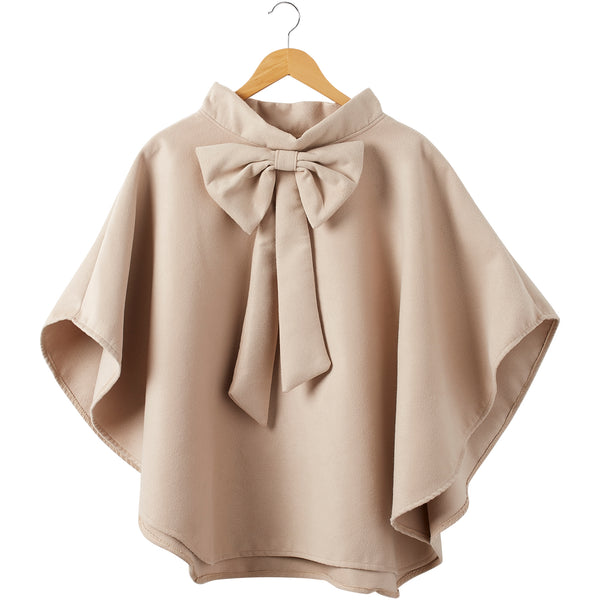 Elsa Bow Cape - Khaki - Tickled Pink Wholesale