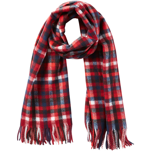 James Plaid Scarf - Ruby - Tickled Pink Wholesale