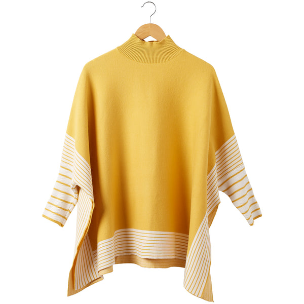 Eddie Stripe Poncho - Gold - Tickled Pink Wholesale